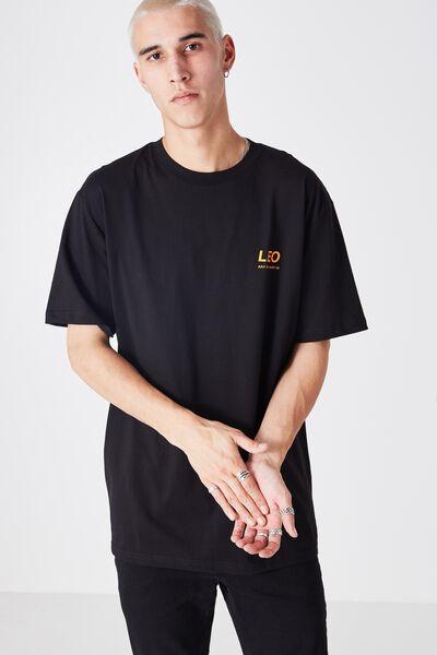 Leo Horoscope T Shirt, BLACK/ORANGE