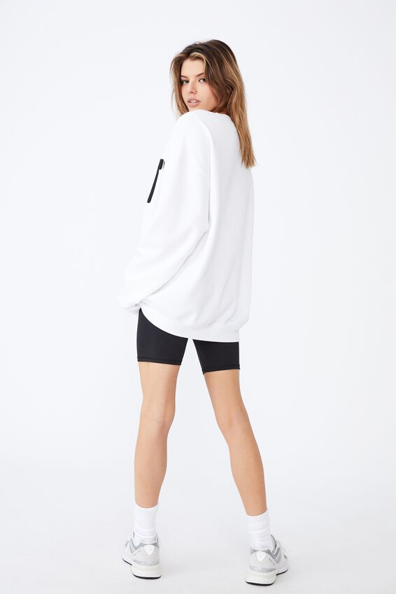 Oversized Graphic Crew, WHITE/THE PROPERTY OF