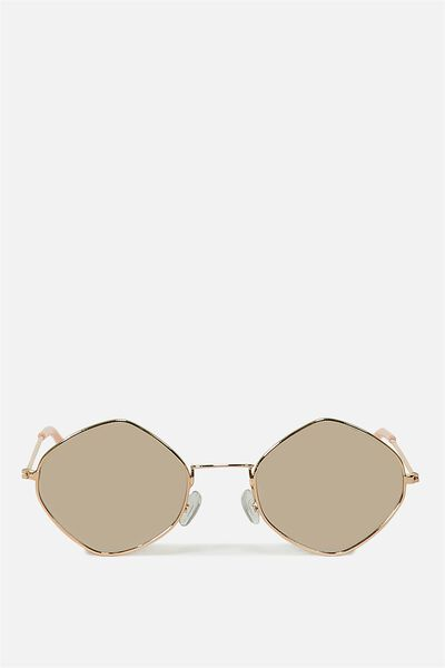 Geo Sunnies, ROSE GOLD_ROSE SILVER