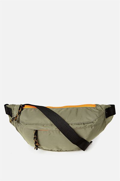 Crossbody Bag, KHAKI/ORANGE