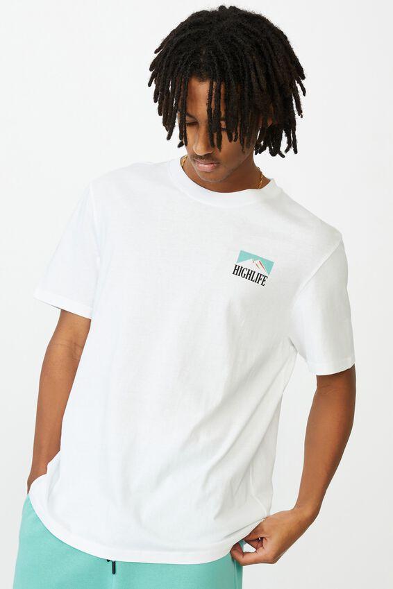 Regular Graphic T Shirt, WHITE/HIGH LIFE
