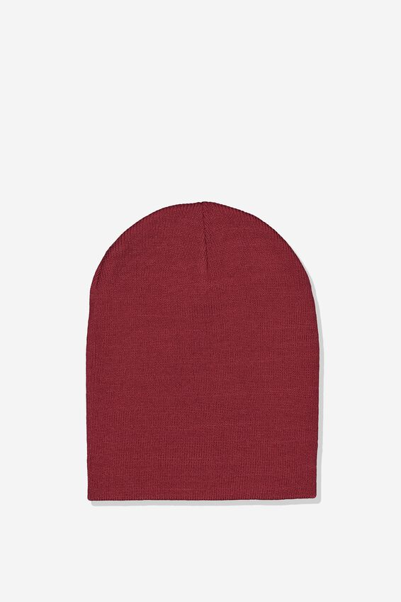Ribbed Beanie, PORT