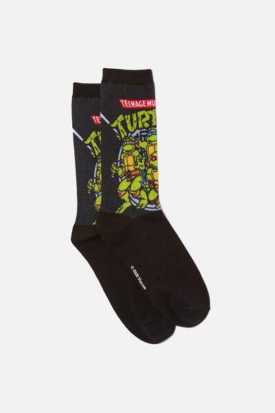 License Jersey Sock, BLACK_TMNT