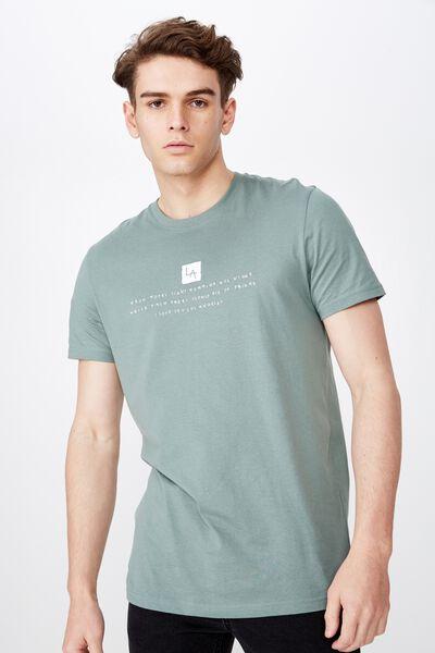 Slim Graphic T Shirt, WASHED OLIVE/LOVE LA