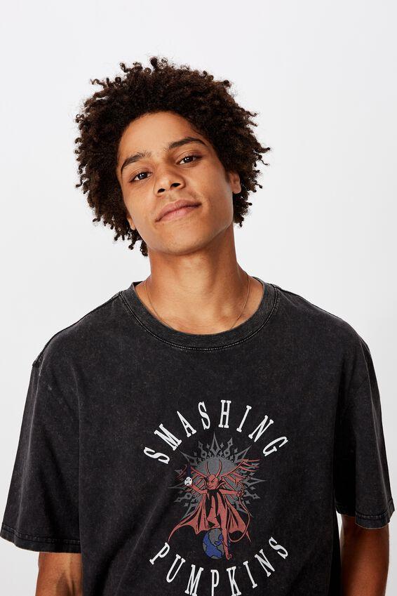 Regular License T Shirt, WASHED BLACK/SMASHING PUMPKINS