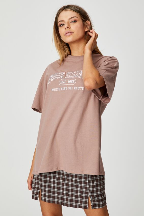 Super Relaxed Graphic Tee, DIRTY BLUSH/FOUR VALLEYS