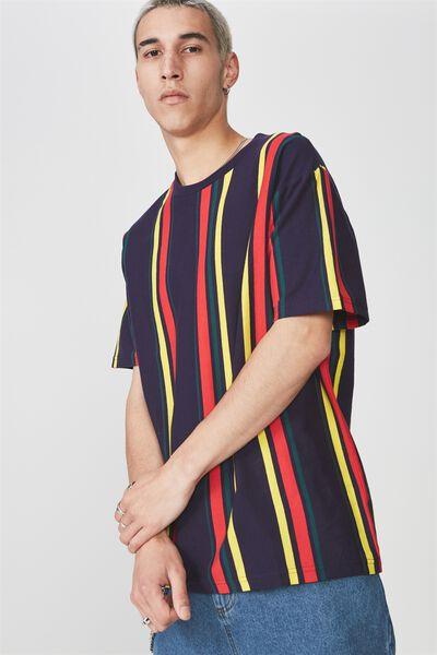 Ss Vertical Stripe T Shirt, ECLIPSE/MULTI STRIPE