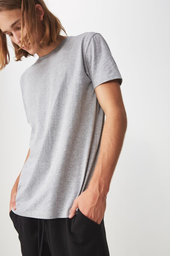 Slim T Shirt., TRUE GREY MARLE