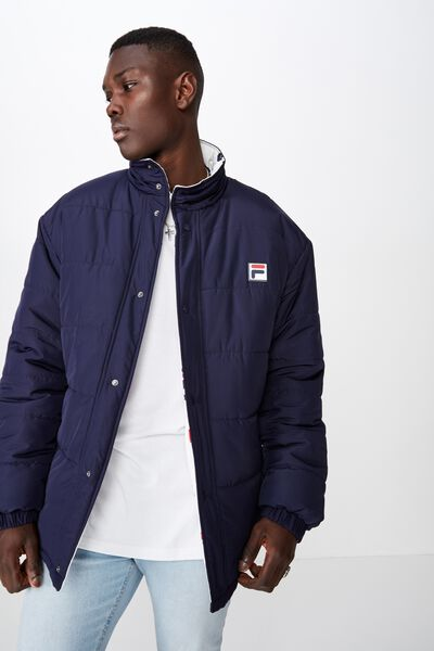 Fila Lcn Reversible Puffer Jacket, WHITE