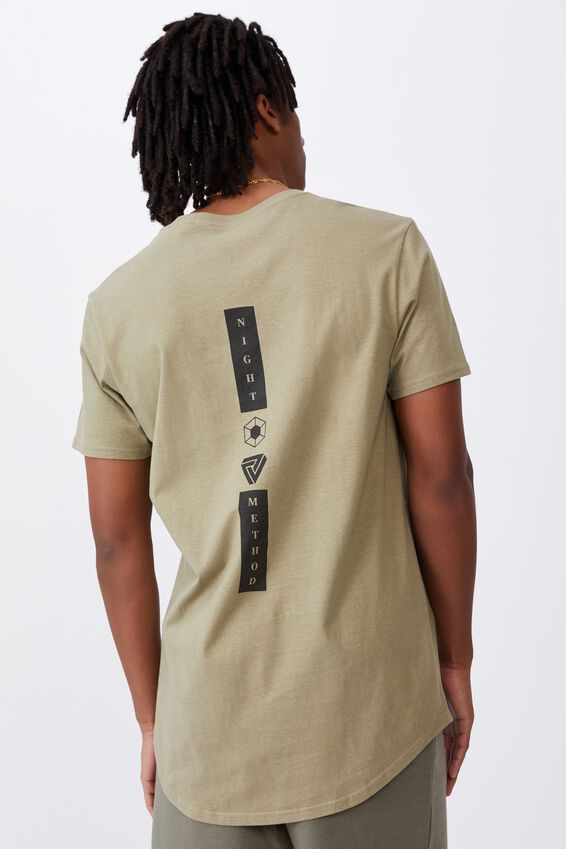 Curved Graphic T Shirt, OLD MOSS/NIGHT METHOD