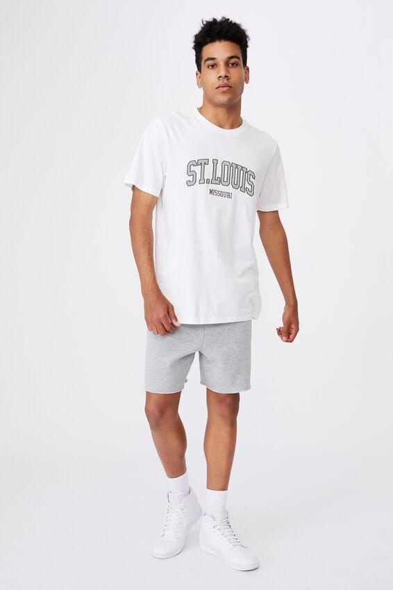 Regular Graphic T Shirt, WHITE/ST LOUIS