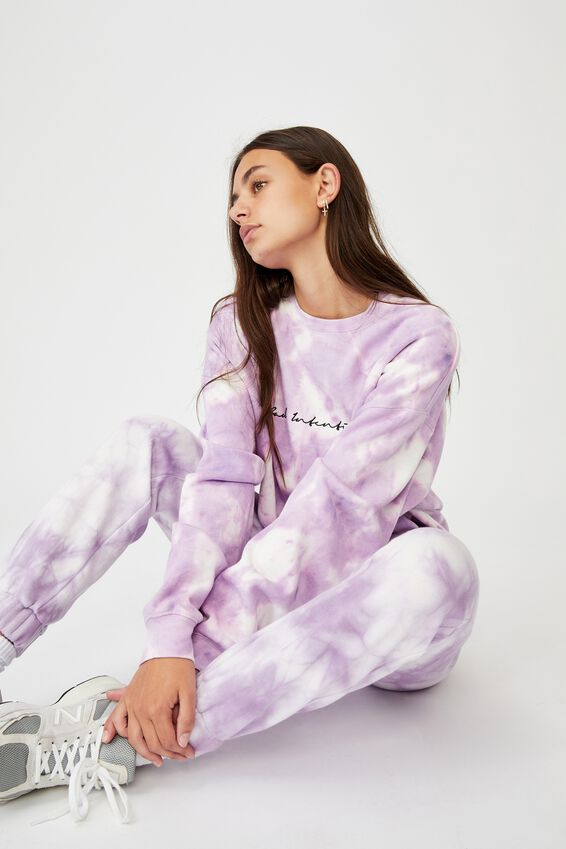 Super High Rise Trackpant, ORCHID BLOOM TIE DYE