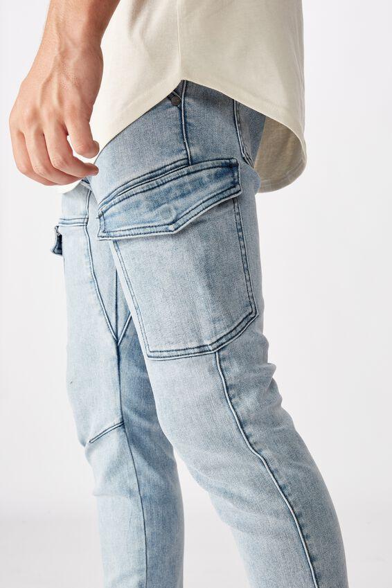Utility Pocket Jean, ASH INDIGO