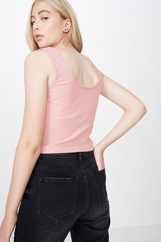 Zip Through Tank, DUSTY PINK