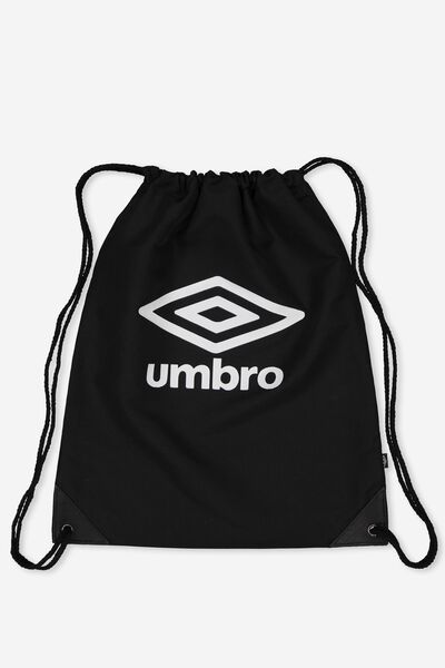 Umbro Drawstring Backpack, BLACK