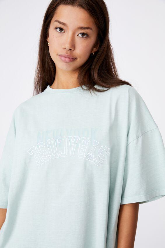 Graphic T Shirt Dress, ETHER/NY SYRACUSE