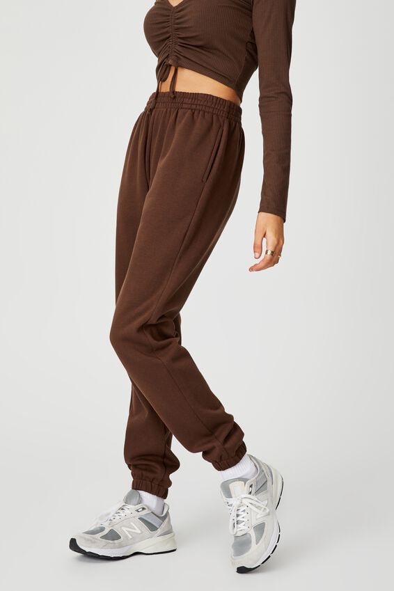 Classic Trackpant, CHOCOLATE