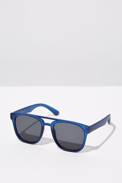 Preppy Topbar Sunglasses, M. BLUE_SMK