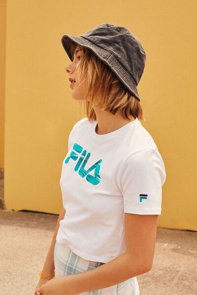 Fila Lcn Fitted Graphic Tee 2, WHITE