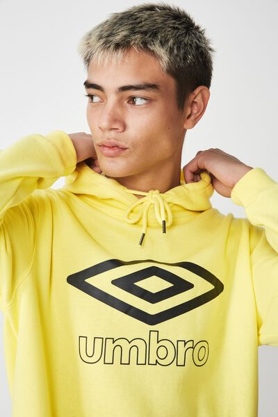 Umbro Lcn Fleece Hoodie, LIMELIGHT