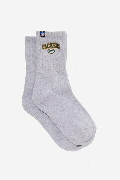 License Retro Sport Socks, LCN PACKERS GREYMARLE