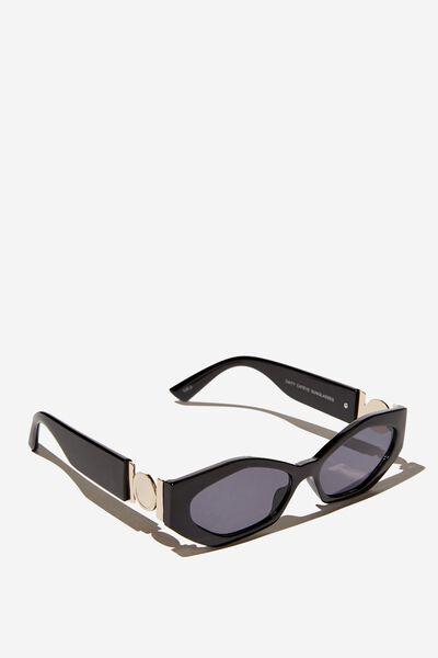 Caity Cateye Sunglasses, BLACK