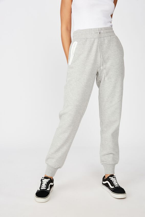 Tech Zip Trackpant, GREY MARLE