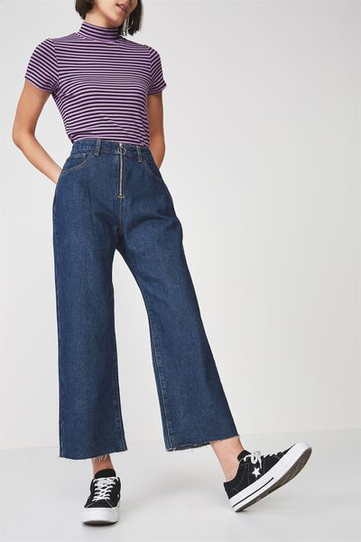 Zip Front Skater Jean, TRUE BLUE