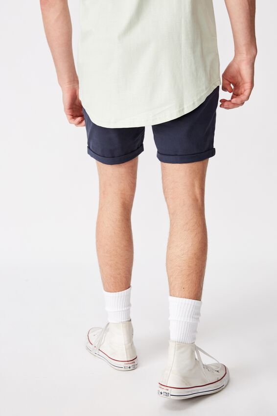 Twill Tapered Short, NAVY