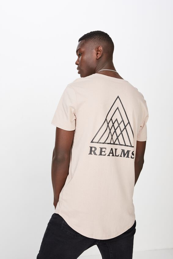 Curved Graphic T Shirt, SPHINX/REALMS MAZE