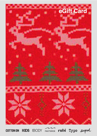 eGift Card, Factorie Christmas Fair Isle