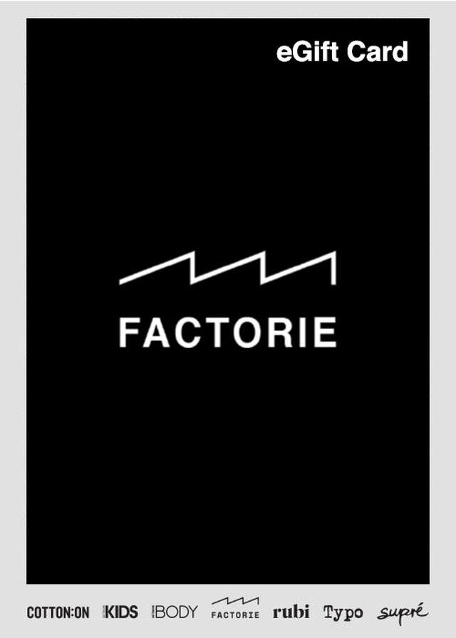 eGift Card, Factorie