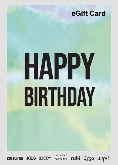 eGift Card, Factorie Happy Birthday