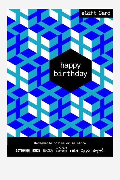 eGift Card, Factorie Birthday