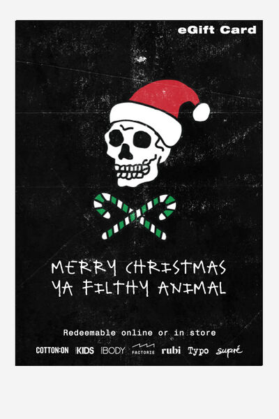 eGift Card, Factorie Christmas Filthy