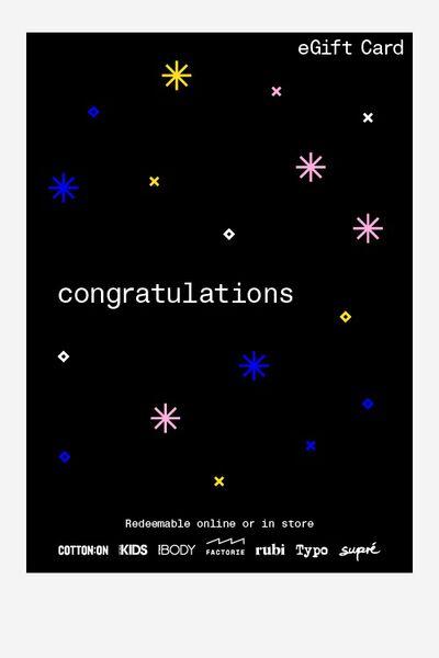 eGift Card, Factorie Congratulations