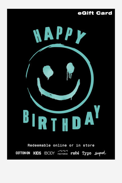 eGift Card, Factorie Happy Birthday