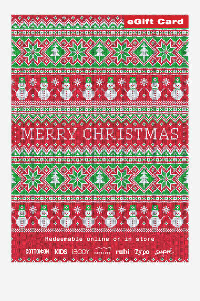 eGift Card, Factorie Christmas Fairisle